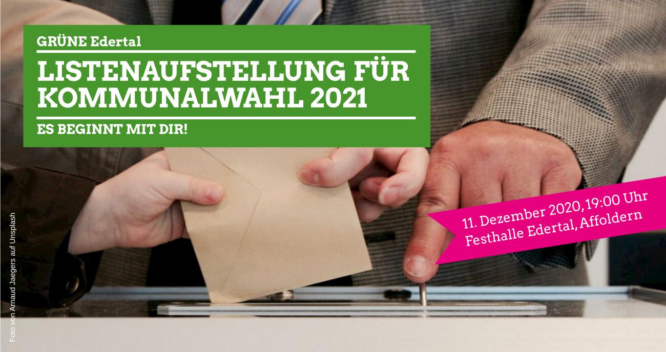 Listenaufstellung für Kommunalwahl 2021